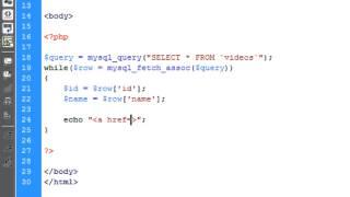PHP: Video Upload & Playback (Using Database)