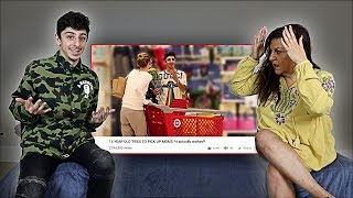 MOM REACTS TO SON PICKING UP OLDER WOMEN *awkward*