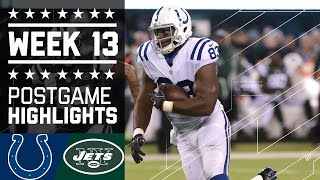 Colts vs. Jets (Week 13) | Game Highlights | Monday Night Football | NFL