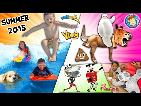 Horsey Go Poopy! Baymax is Poofy! Doggy in a Pooly! Cow go Mooey! (SUMMER 2015 FUNnel Vision Vlog)