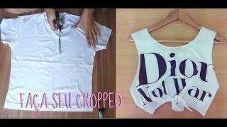 DIY: Como fazer um cropped top / camisa cavada em casa fácil e barato