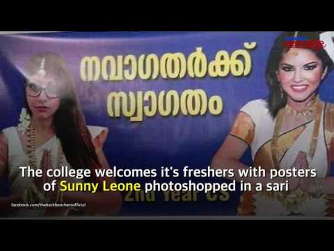 Kerala college uses porn stars to welcome freshers