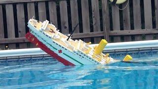5 Foot LEGO Britannic Model Sinking [Video 2]