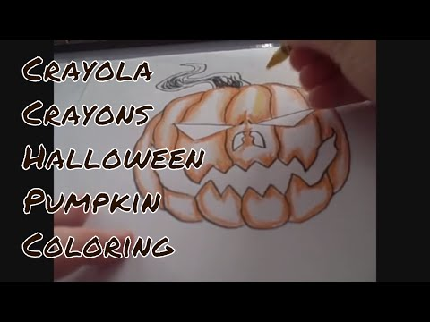 Crayola Crayons Halloween Pumpkin Color Demonstration
