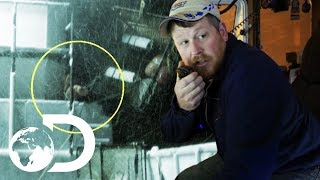 Crew Member Takes Massive Blow To The Head During Hurricane | Deadliest Catch