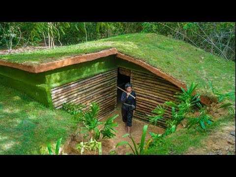 Build The Most Beautiful Underground House Villa by Ancient Skills