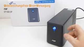 FSP EP 650 SP USV Stromversorgung Hands On Test - Deutsch / German ►► notebooksbilliger.de