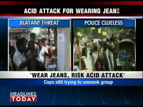 Xxx Mp4 Posters Threaten Acid Attack On Women Wearing Jeans In Ranchi 2 3gp Sex