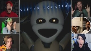 Gamers Reactions to Minireena (Jumpscare) | Five Nights at Freddy's: Sister Location