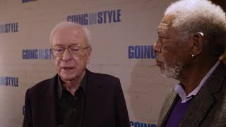 Going in Style (2017 Heist Comedy) - Michael Caine & Morgan Freeman talk about the movie (2 mins)