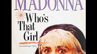 Madonna - Who's That Girl 12 Inch Vinyl - 1987 - Who's That Girl (Dub)