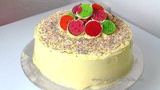 POLKA DOT CAKE *COOK WITH FAIZA*