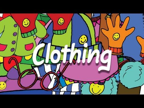 Clothing Vocabulary for Kids What Do You Wear Chant ELF Kids Videos