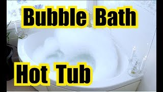 ✬ RELAXING BATH | HUMMING BUBBLE BATH SOUNDS in a SPA TUB for SLEEPING | Like a RIVER FLOWING