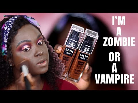 I TURNED INTO A ZOMBIE NYX X ALISSA ASHLEY DID ME WRONG CAN T STOP WON T STOP FOUNDATION
