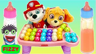 Learn Colors With Paw Patrol Pups Skye And Marshall Gumballs And Food