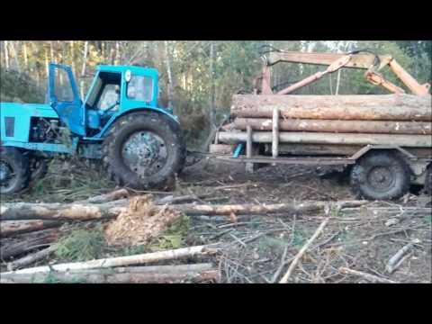 Xxx Mp4 Malku Vezimas 2016 Belarus MTZ 52L Homemade Forest Trailer Works In Forest МТЗ 52 работа в лесу 3gp Sex