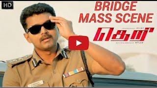 Theri Bridge Mass Scene  HD   Vijay, Samantha, Amy Jackson   Atlee   G V  HIGH