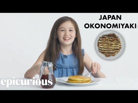 Xxx Mp4 Kids Try 10 Kinds Of Pancakes From Around The World Bon Appétit 3gp Sex