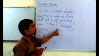 Cauchy's Theorem for Analytic Function in Hindi