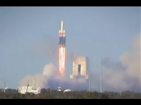 The First Delta IV Heavy Rocket Launches On A Test Flight For The Air Force