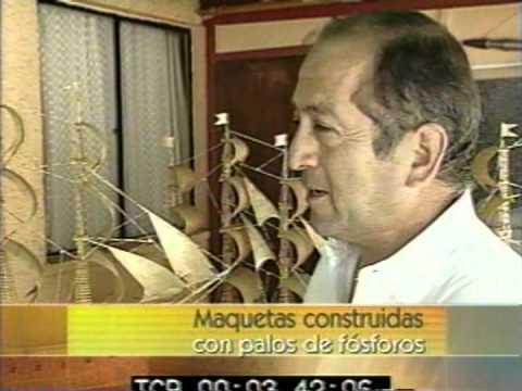 Trabajos con Palos de Fósforos Entrevista de TVN. 28.Nov.02 a Roberto Peña C.