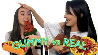 Gummy Food vs Real Food Challenge - Merrell Twins