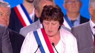 Michèle de Vaucouleurs au grand rassemblement pour la Résistance iranienne à Villepinte 30 juin 2018