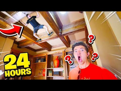 SNEAKING INTO PRESTON S HOUSE FOR 24 HOURS