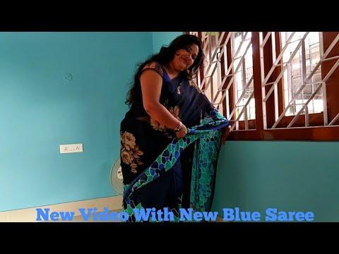 Xxx Mp4 New Video With New Blue Saree 😉 3gp Sex