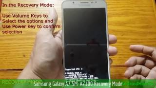 Samsung Galaxy A7 SM-A7100 Recovery Mode