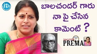 Actress Sudha About Director K Balachander || Dialogue With Prema || Celebration Of Life