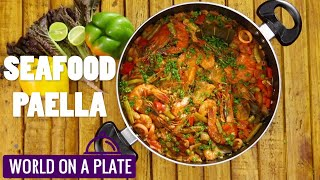 How to make Seafood Paella | World on a Plate | Manorama Online Recipe