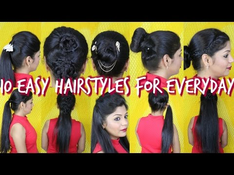 10 Easy Hairstyles For Everyday SuperPrincessjo