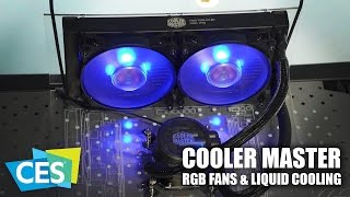 CES 2017: Cooler Master RGB Fans and Liquid Cooling