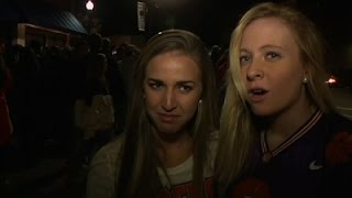 Clemson Students Watch Tigers Lose