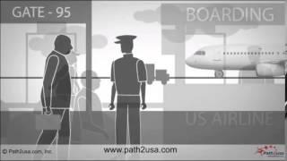 Airport check in procedure