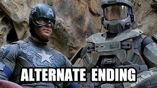 CAPTAIN AMERICA vs MASTER CHIEF - ALTERNATE ENDING - Super Power Beat Down