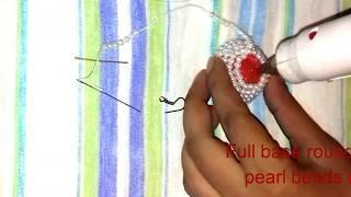 পুতি দিয়ে কানের ঝুমকা তৈরি/How to make beaded jumku/earrings/Diy craft