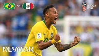 NEYMAR Goal  - Brazil v Mexico - MATCH 53