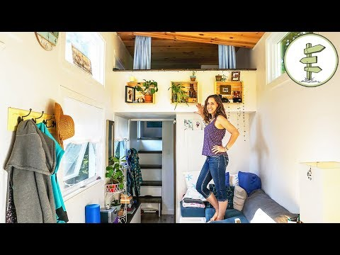 Woman Living in a Tiny House to Achieve Financial Freedom Interview & Tour