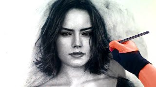 Drawing Rey from Star Wars - Force Awakens Art Drawing Video - See description for my Art Tools