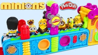 MINIONS Visit Play Doh Mega Fun Factory Playset to Collect Surprise Toys & Blind Bags!