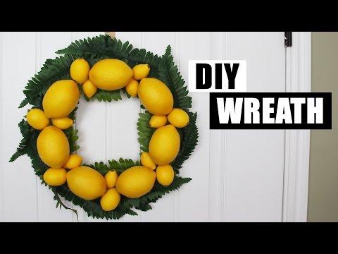 DIY Spring Summer Wreath DIY Lemon Wreath DIY Front Door Wreath DIY Lemon Decor