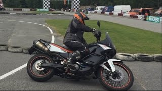 Ktm 990 Adventure Drift and Wheelie