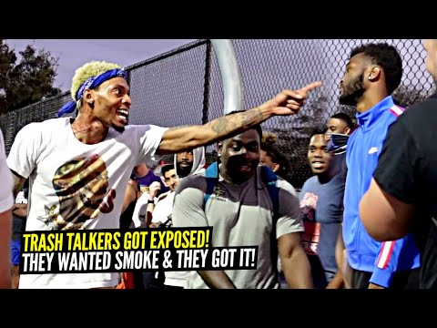 Trash Talkers Got PHYSICAL at Park & Then Get EXPOSED Ballislife Squad INSANE Park Takeover