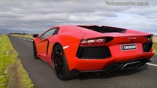 2015 Lamborghini Aventador LP700-4 0-100km/h & engine sound