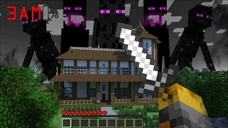 SCARY ENDERMAN APPEAR AT 3AM IN MY HOUSE IN MINECRAFT !! Minecraft Mods