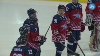 Hokej: Zápas hviezd Druhej ligy 2017 – I. a II. tretina