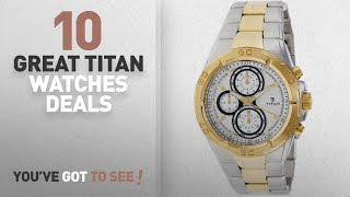 Up To 30% Off Titan Men's Watch: Titan Regalia Chronograph Analog Silver Dial Men's Watch -